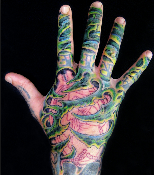 hand tattoo not permitted by military policy